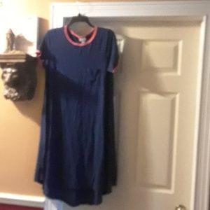 LuLaroe Carly Pink And Blue Dress
